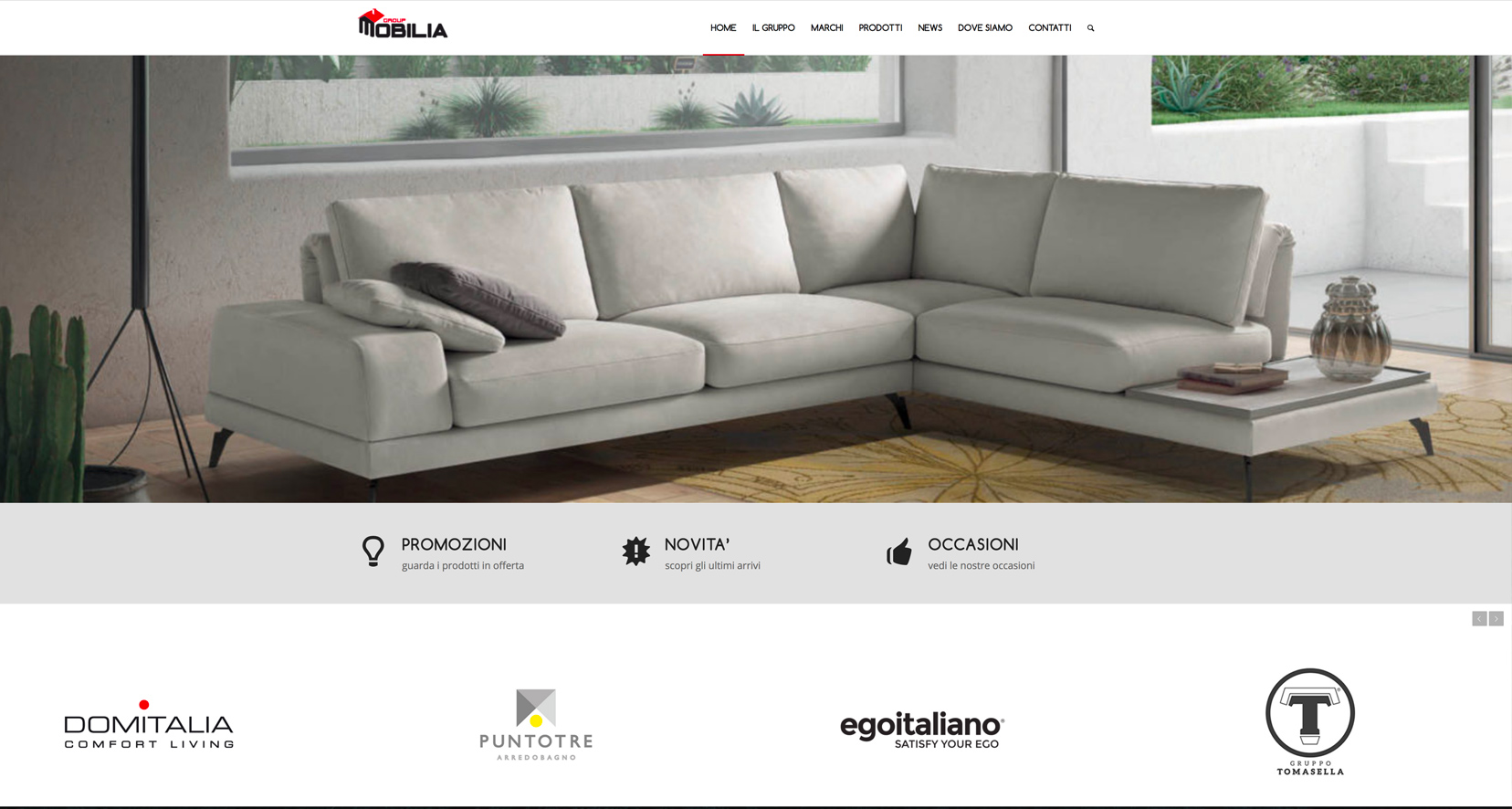 nuovo sito web per mobilia group why group srl web