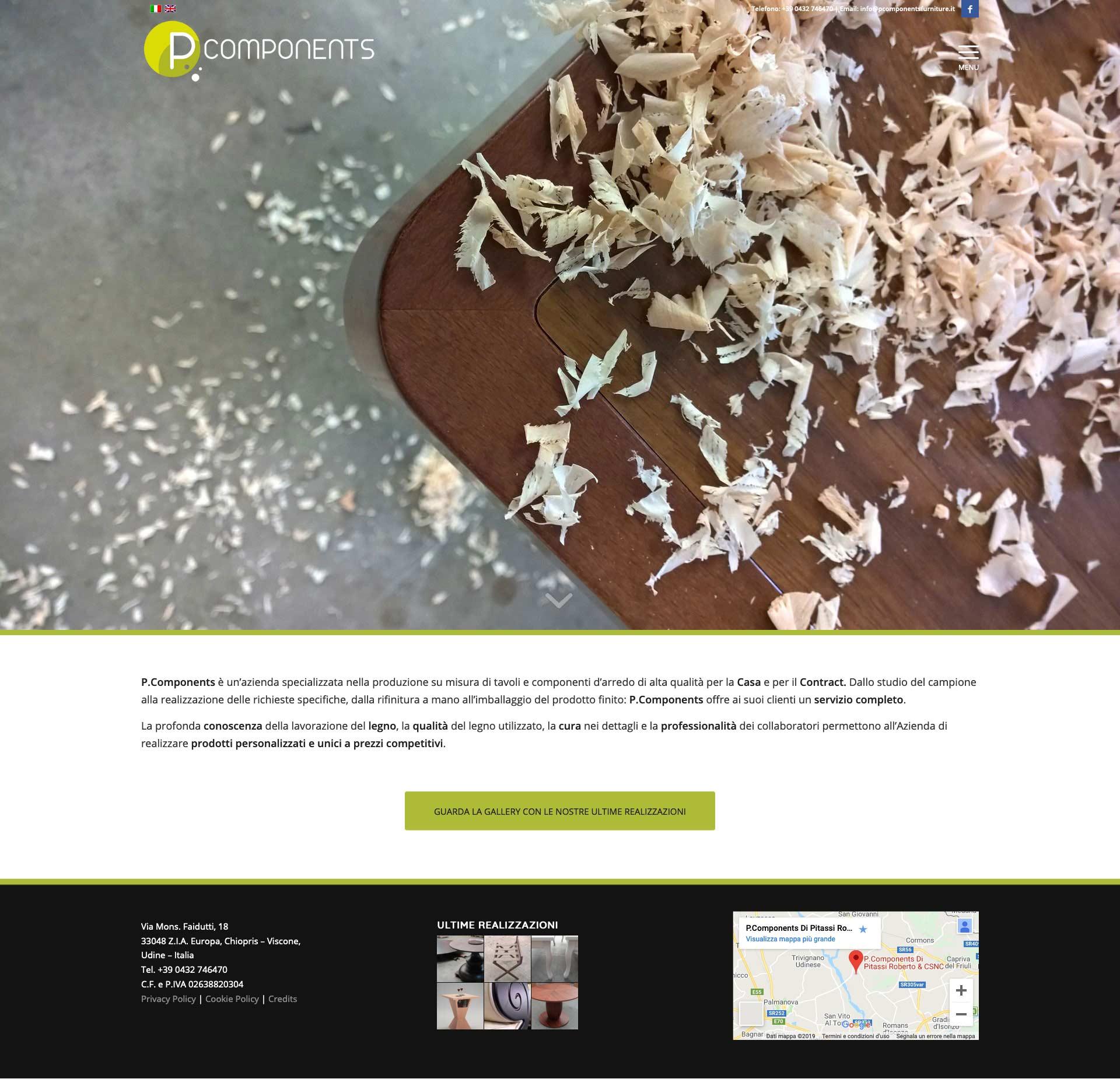 Legno Online Su Misura veste grafica rinnovata per p components - why group srl